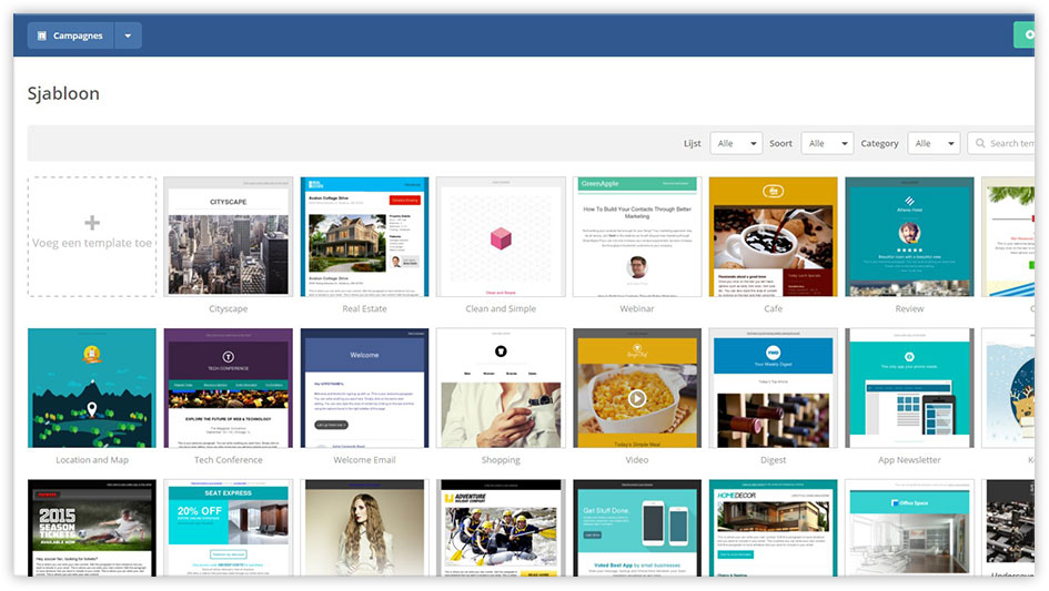 Printscreen van de Mark-i software - Email Marketing Software 2